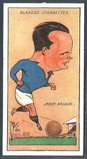 "PLAYERS 1927 FOOTBALL CARICATURES BY ""MAC""- #35-CHELSEA & SCOTLAND-ANDY WILSON"