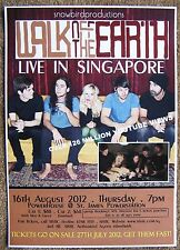 Walk Off The Earth 2012 Gig Poster Singapore Concert