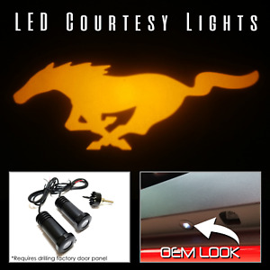 Lumenz C3 LED Courtesy Logo Lights Ghost Shadow Ford Mustang 100591 Amber