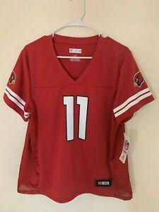 Larry Fitzgerald Arizona Cardinals Majestic Hashmark Player Name&Number T-shirt