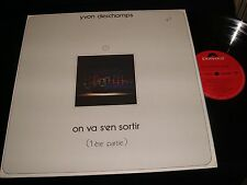 "YVON DESCHAMPS<>ON VA S'EN SORTIR<>12"" Lp Vinyl~Canada Pressing~POLYDOR 2424 062"