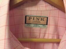 Cotton Button Cuff Thomas Pink Long Formal Shirts for Men