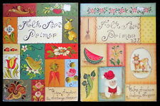 LOT 2 TOLE PAINTING BOOKS FOLK ART PRIMER & VOL. 2 EDNA SNYDER & JOSONJA JANSEN