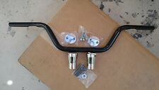"NEW BLACK  BAD BOY SPRINGER STYLE BARS W 3"" CHROME RISERS 4 HARLEY DNA SPRINGER"