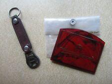 Set Vintage Etienne Aigner Hand Mirror in Plastic Case & Key Chain Fob