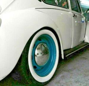 "Brand 13"" Tire 2.5"" Wide White Wall Portawall Tire insert Trim set 4 pcs VW BMW"