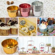 50pcs Muffin Case Striped Cupcake Paper &Foil Coated Cup Cake Mold Baking Cup