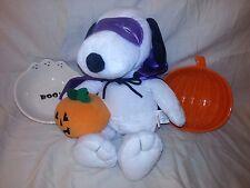 "14"" Halloween Dracula Toy Stuffed plush Snoopy Dog Peanuts FREE Bowls EUC"