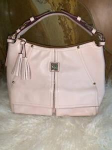 New~Dooney & Bourke Smooth Leather Hobo~Kingston~Blush