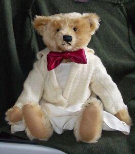 VINTAGE  STEIFF TEDDY BEAR 16 INCHES WITH BLANK  BRASS BUTTON
