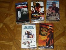 Lot of 5 New Clint Eastwood Vhs films. Eger Sanction, Hang 'Em High, Sister Sara