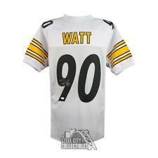TJ Watt Autographed Pittsburgh Steelers Custom White Football Jersey - JSA  COA cfa7e5730