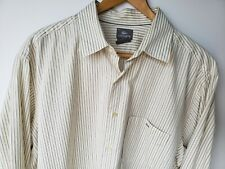 Lacoste Mens Button Front Shirt Size 45 XXL 2XL Striped Long Sleeve