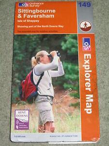 OS Ordnance Survey Explorer 1:25,000: Sheet 149 Sittingbourne & Faversham; 2004