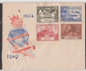 1949 UPU Tonga cover(Unaddressed). Clean and Crisp.75th Anniv UPU.