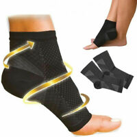 Foot Plantar Fasciitis Arch Support Compression Socks Ankle Heel Brace Copper DU