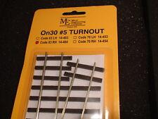 Micro- Engineering #14-404 On30 #5 CODE 83 RH TURNOUT