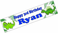 PERSONALISED BANNERS NAME AGE PHOTO BIRTHDAY PARTY Dinosaur boy girl 1st 2nd F1