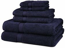 MONOGRAMMED 6 PCS.TOWELS SET - EGYPTIAN COTTON FROM PINZON - NAVY