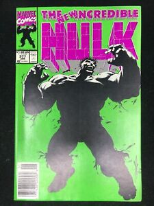 The New Incredible Hulk #377 Marvel Comic Book 1991 (9.4 NM) (NEWSSTAND!)