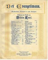 """"""" Geistliches Lied """" aus Der Evangelimann von W.Kienzl,  übergroße, alte Noten"""