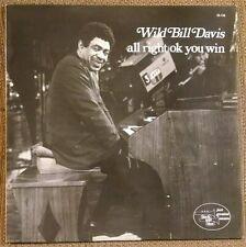 Wild Bill Davis All Right You Win LP Eddie Lockjaw Davis  French Black Blue Jazz