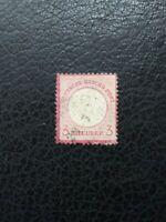 Germany #9 Used, 1872 3k Small Shield, Thinned Area, Scott Catalog Value $ 14.50