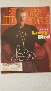 Larry Bird Autographed Sports Illustrated 10/27/97 Boston Celtics