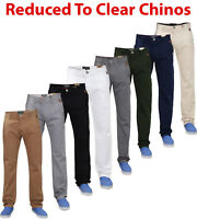Mens Chinos Jeans Designer Straight Leg Slim Fit Stretch Casual Trousers Pants