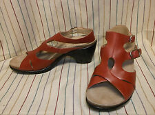NEW Dansko Callie Red Full grain leather Gladiator Sandal Women's 38 / 7.5 /8 M