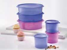 New Tupperware One Touch Server (3) 2.0L each Compact Canister (3) 600ml each