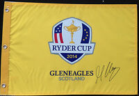 MARTIN KAYMER SIGNED 2014 EUROPE RYDER CUP GOLF PIN FLAG GLENEAGLES COA J2