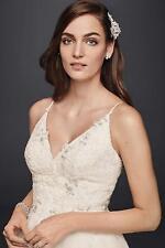 Wedding Dress Short Tulle V-Neck Size 6.0 Melissa Sweet Ivory New Retails $800+