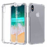 New Transparent Crystal Clear Gel TPU Shockproof Bumper Case for iPhone 7 8 & X