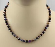 Sugilithkette echte Sugilithe rund 6mm lila Halskette für Damen 46 cm lang