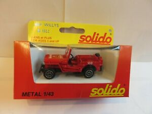 SOLIDO - JEEP Willys Pompiers Réf. 1322