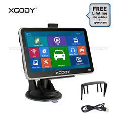 XGODY 5 Zoll PKW Navigationsgerät 8GB NAVI POI SpeedCam Touchscreen EU Karten