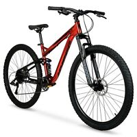 "Hyper 29"" Explorer Men's Dual Suspension Mountain Bike, Red"
