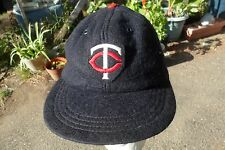1960's ? Minnesota Twins Vintage  TC Logo Hat Navy MLB Baseball Cap