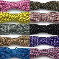 29 Colors 50-100FT Micro Cord Paracord 2mm Tent Camping Guy Rope Parachute Cord