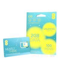 EE 4G Pay As You Go PAYG SIM Card - TRIPLE CUT Standard, Micro & Nano - £10 PACK