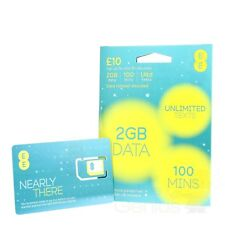 EE 4G Pay As You Go PAYG SIM Card - TRIPLE CUT Standard, Micro & Nano - £10 PACK