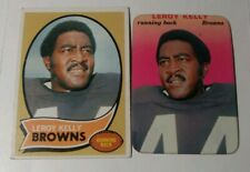 Set Of LeRoy Kelly Topps Football Cards (1970 and 1970 Super Glossy)(NFL HOF'er)