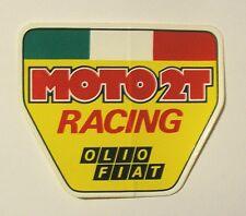 VECCHIO ADESIVO AUTO MOTO / Old Sticker OLIO FIAT RACING MOTO 2T (cm 7 x 6)