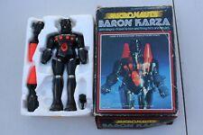 VINTAGE 1977 MEGO MICRONAUTS BARON KARZA ACTION FIGURE  ORIGINAL BOX W STYROFOAM