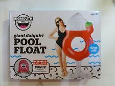 Giant 6 Foot Red Daiquiri Drink Pool Float With Drawstring Bag by Big Mouth