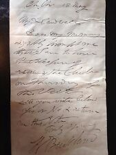 WILLIAM BUCKLAND - GEOLOGIST & PALAEONTOLOGIST - ONE PAGE HAND WRITTEN LETTER