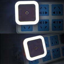 White EU Plug Auto LED Light Induction Sensor Control Lamp Night Light Bedroom
