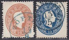 Österreich 1860 Nr. 21+22 Blaustempel