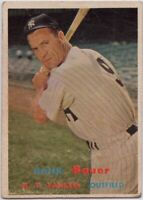 1957 Topps #240 Hank Bauer VG-VG Wrinkle New York Yankees FREE SHIPPING